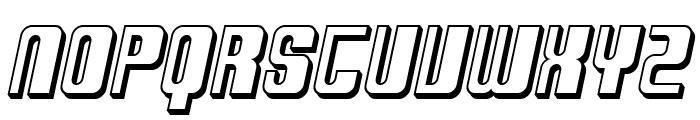 SF DecoTechno Shaded Oblique Font UPPERCASE