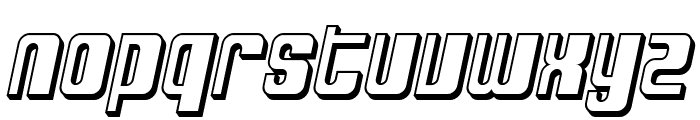 SF DecoTechno Shaded Oblique Font LOWERCASE
