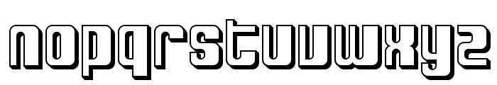 SF DecoTechno Shaded Font LOWERCASE