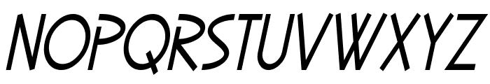 SF Diego Sans Condensed Oblique Font UPPERCASE