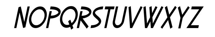 SF Diego Sans Condensed Oblique Font LOWERCASE