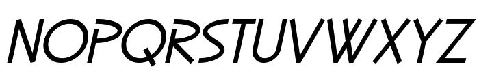SF Diego Sans Oblique Font UPPERCASE