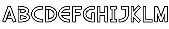 SF Diego Sans Outline Font LOWERCASE