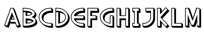 SF Diego Sans Shaded Font LOWERCASE
