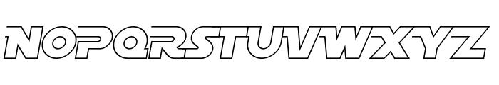 SF Distant Galaxy AltOutline Italic Font UPPERCASE
