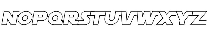 SF Distant Galaxy AltOutline Italic Font LOWERCASE