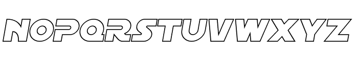SF Distant Galaxy Outline Italic Font UPPERCASE
