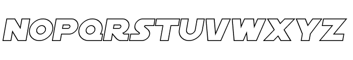 SF Distant Galaxy Outline Italic Font LOWERCASE