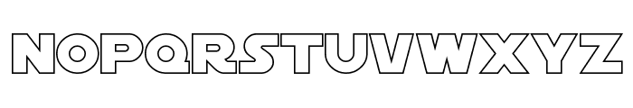 SF Distant Galaxy Outline Font LOWERCASE