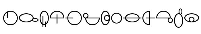 SF Distant Galaxy Symbols Font UPPERCASE