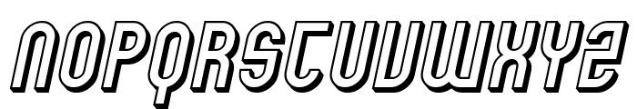 SF Eccentric Opus Shaded Oblique Font UPPERCASE
