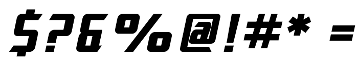 SF Electrotome Bold Oblique Font OTHER CHARS