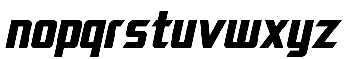 SF Electrotome Bold Oblique Font LOWERCASE