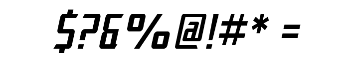 SF Electrotome Condensed Oblique Font OTHER CHARS