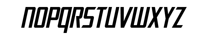 SF Electrotome Condensed Oblique Font UPPERCASE
