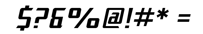 SF Electrotome Oblique Font OTHER CHARS