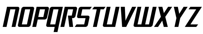 SF Electrotome Oblique Font UPPERCASE