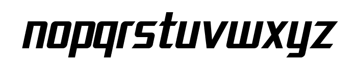 SF Electrotome Oblique Font LOWERCASE