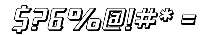 SF Electrotome Shaded Oblique Font OTHER CHARS