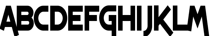 SF Espresso Shack Condensed Bold Font UPPERCASE
