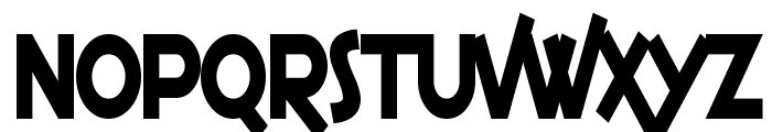 SF Espresso Shack Condensed Bold Font LOWERCASE