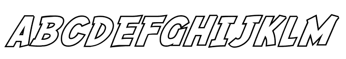 SF Fedora Outline Font UPPERCASE