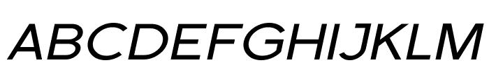 SF Florencesans Exp Italic Font UPPERCASE