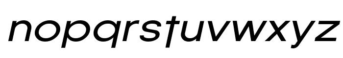 SF Florencesans Exp Italic Font LOWERCASE