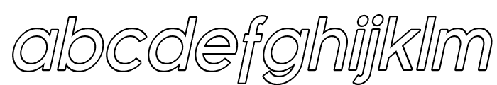 SF Florencesans Outline Italic Font LOWERCASE