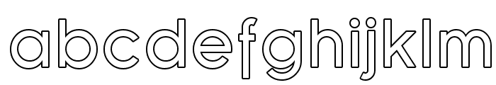 SF Florencesans Outline Font LOWERCASE