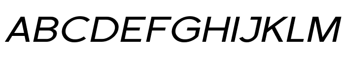 SF Florencesans SC Exp Italic Font UPPERCASE
