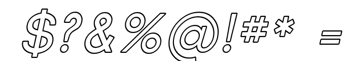 SF Florencesans SC Outline Italic Font OTHER CHARS