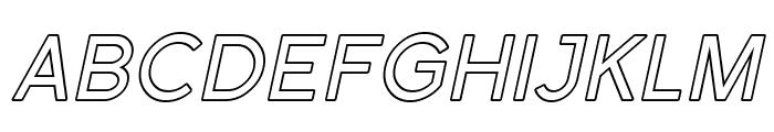 SF Florencesans SC Outline Italic Font LOWERCASE