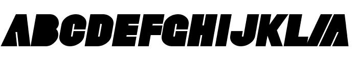 SF Fortune Wheel Bold Italic Font UPPERCASE