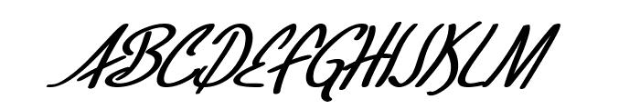 SF Foxboro Script Bold Italic Font UPPERCASE