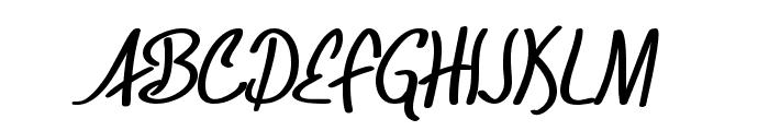 SF Foxboro Script Bold Font UPPERCASE