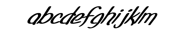 SF Foxboro Script Extended Bold Italic Font LOWERCASE