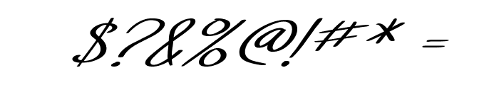 SF Foxboro Script Extended Italic Font OTHER CHARS