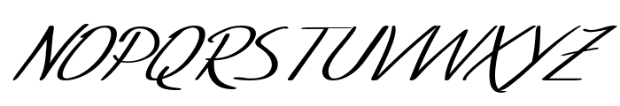 SF Foxboro Script Extended Italic Font UPPERCASE