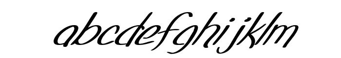 SF Foxboro Script Extended Italic Font LOWERCASE