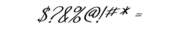 SF Foxboro Script Italic Font OTHER CHARS