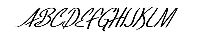 SF Foxboro Script Italic Font UPPERCASE
