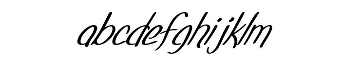 SF Foxboro Script Italic Font LOWERCASE
