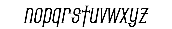 SF Gothican Bold Oblique Font LOWERCASE