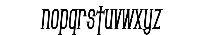 SF Gothican Condensed Bold Italic Font LOWERCASE
