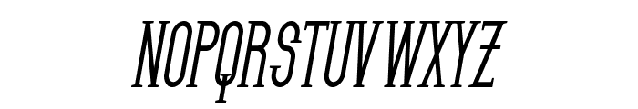 SF Gothican Condensed Bold Oblique Font UPPERCASE