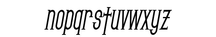 SF Gothican Condensed Bold Oblique Font LOWERCASE
