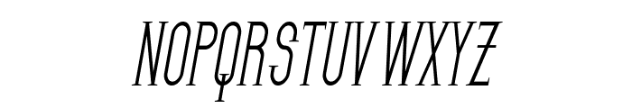 SF Gothican Condensed Oblique Font UPPERCASE