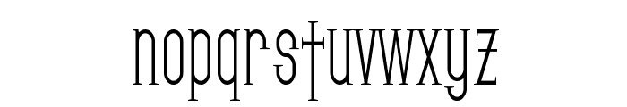 SF Gothican Condensed Font LOWERCASE