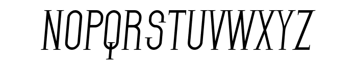 SF Gothican Italic Font UPPERCASE